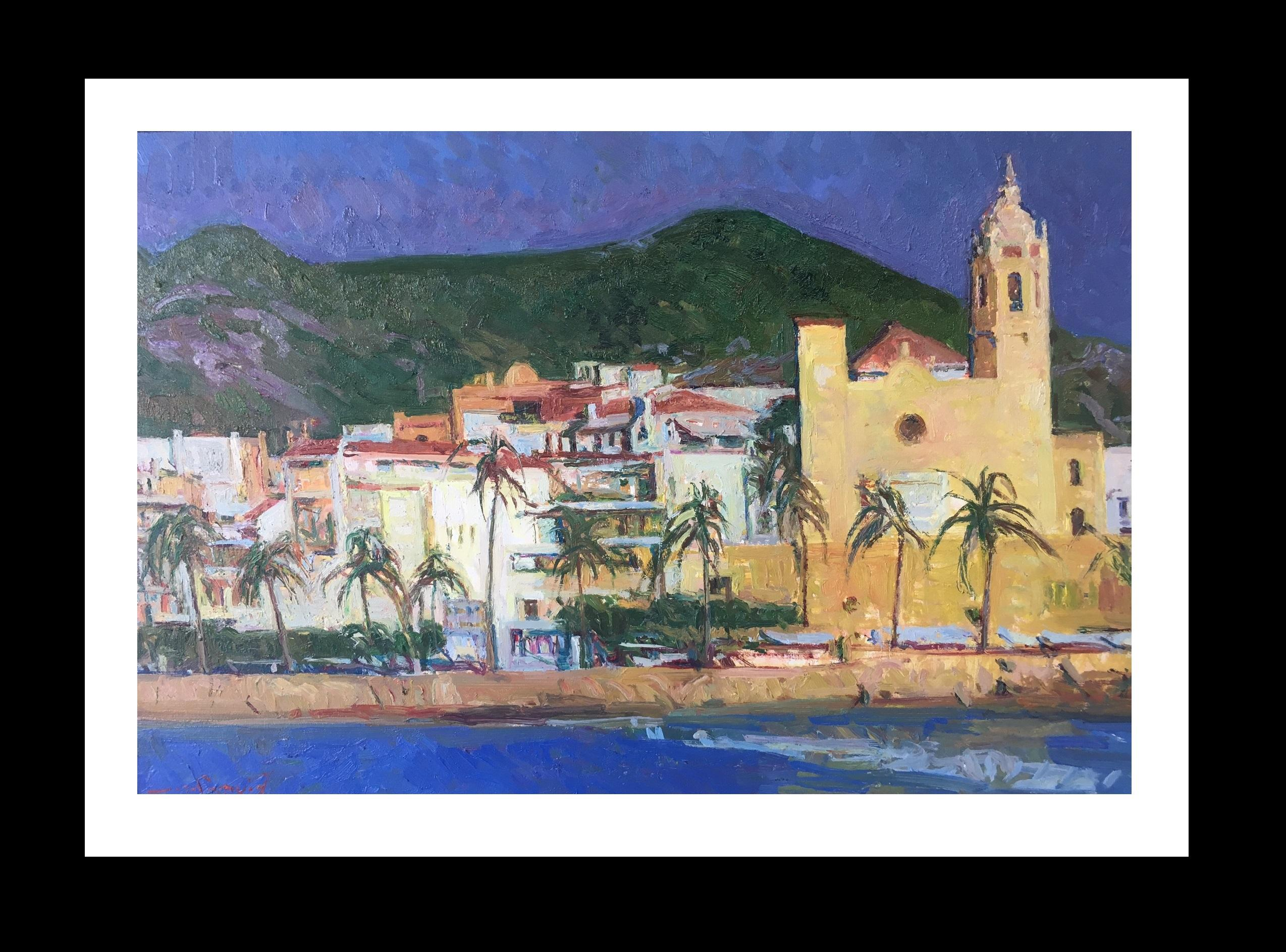 Sitges original impressionist canvas oil painting