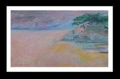 sunset original impressionist acrylic painting