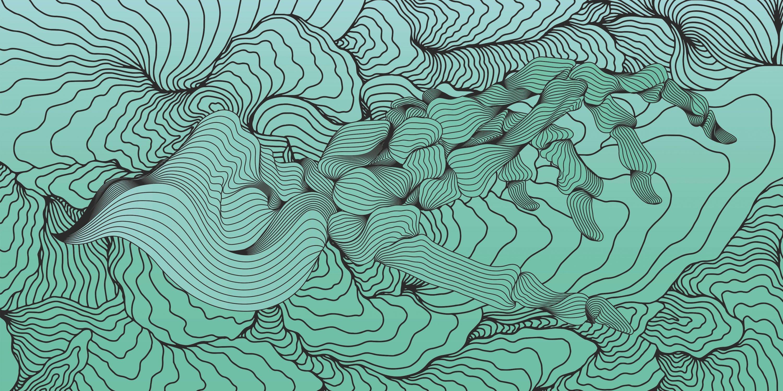 Bali Blues - 21st Century, Contemporary, Abstract, Urban Art, Pigment Print