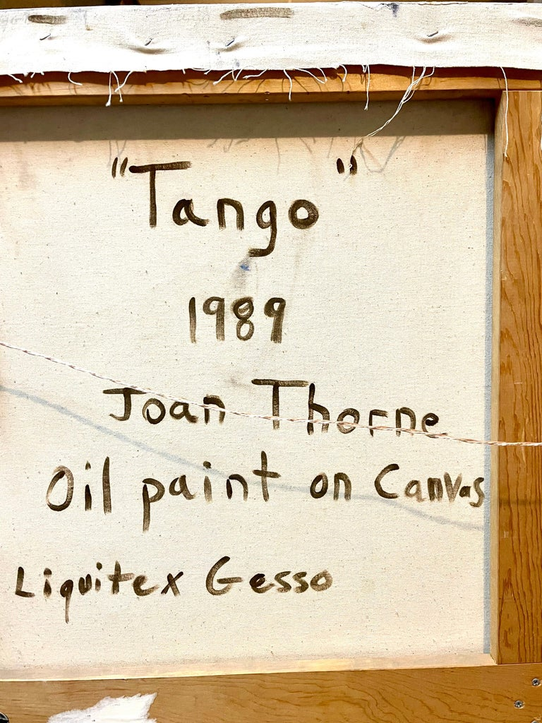 Large Colorful 1980s New York Abstract Expressionist Oil Painting Joan Thorne For Sale 4
