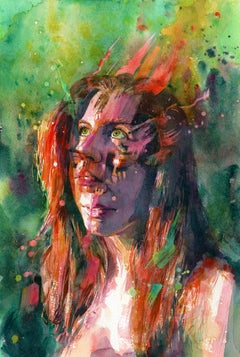 """Blaze,"" Watercolor painting"