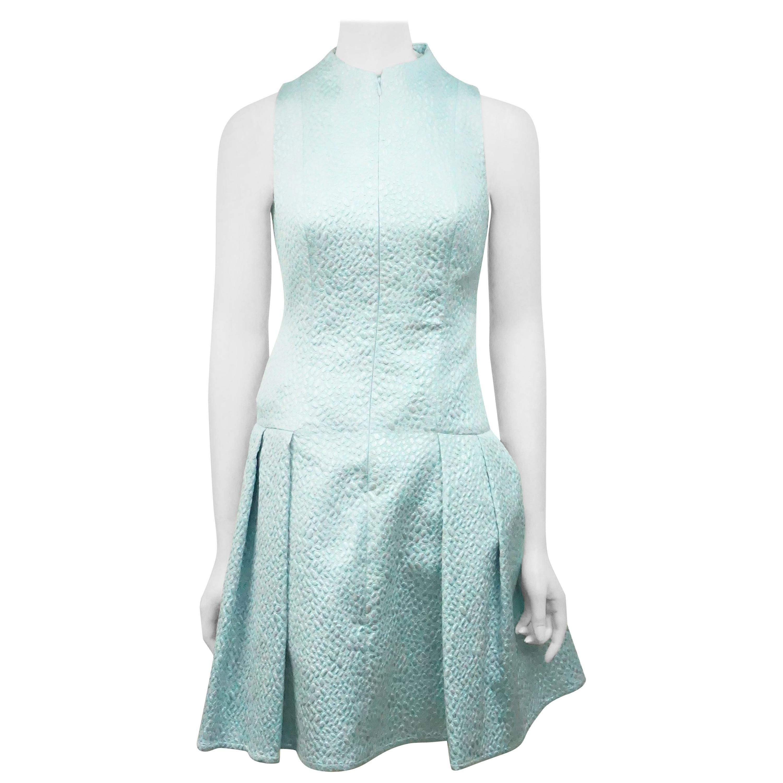 Joanna Mastroianni Mint Brocade Dress N/S-2