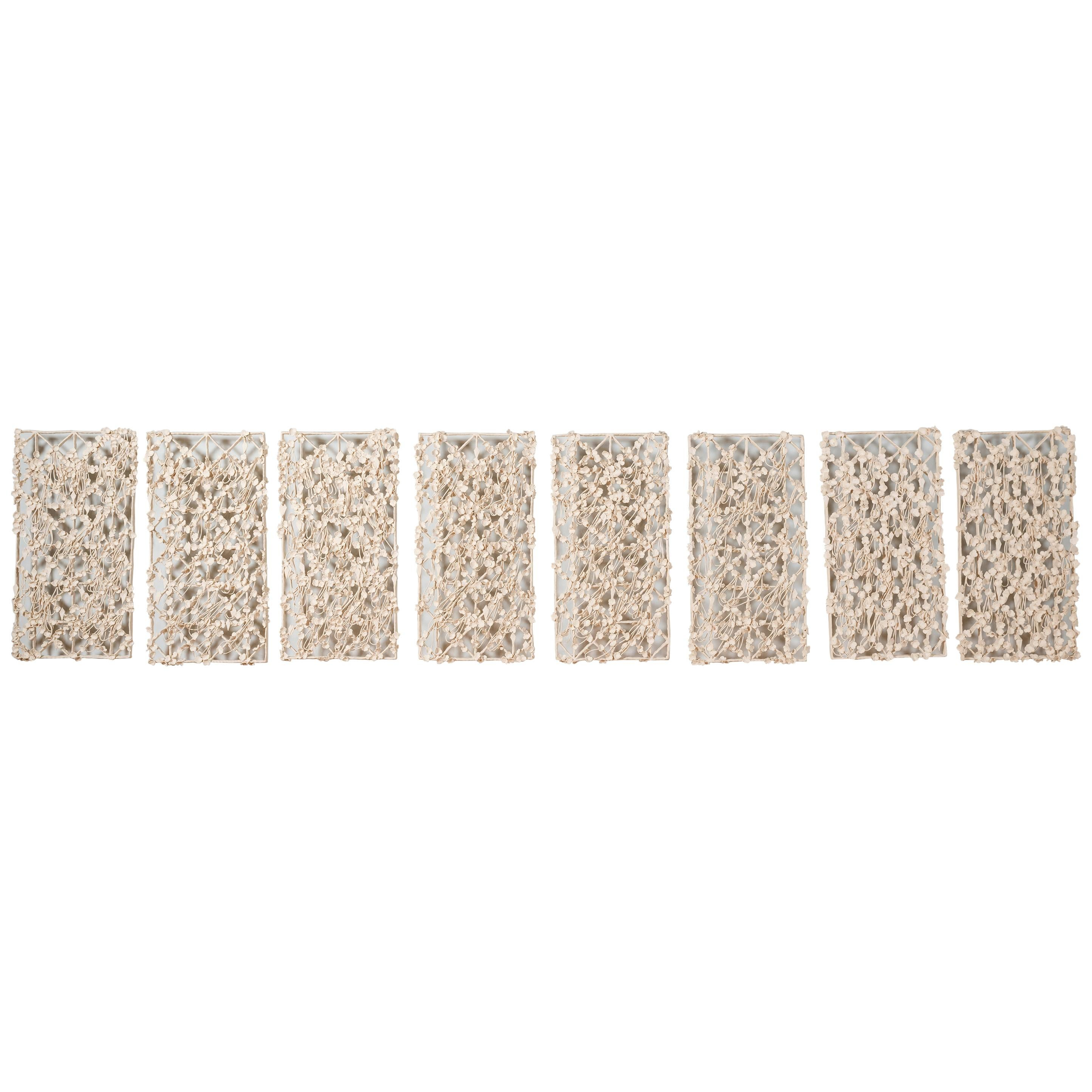 Joanna Poag Binding Time (Lattice Structure w/ Quatrefoil) Wall Panel Sculptures