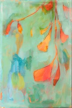 Astwerk 436 - Minimalist, Acrylic, Resin on Wood, 21st Century, Floral Painting