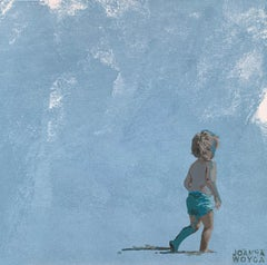 In a blue trousers - Figurative Acrylic Painting, Minimalism, Pop art