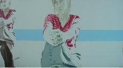 Portrait - XXI Century, Contemporary Figurative Acrylic Painting, Minimalism