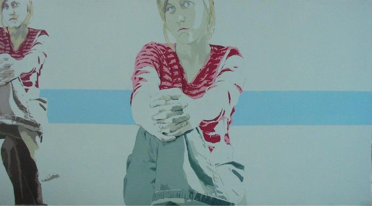Joanna Woyda Figurative Painting - Portrait - XXI Century, Contemporary Figurative Acrylic Painting, Minimalism