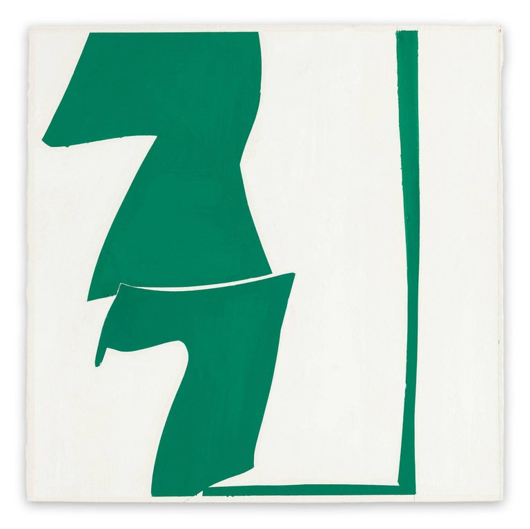 Joanne Freeman Abstract Painting - Covers 13-Green