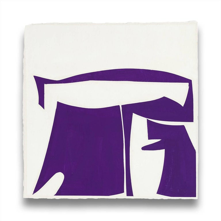 Joanne Freeman Abstract Painting - Covers 13-Purple B (Abstract painting)