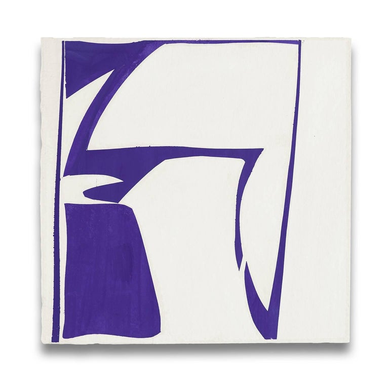 Joanne Freeman Abstract Painting - Covers 13-purple
