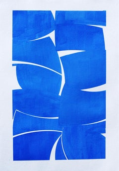 "Joanne Freeman ""Cobalt 38"" -- Abstract Gouache Painting on Paper"