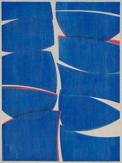 "Joanne Freeman ""Colbalt 40"" - Abstract oil painting on linen"