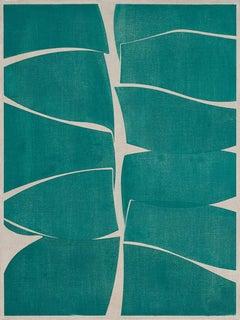 """Joanne Freeman """"Viridian 40"""" - Abstract oil painting on linen"""