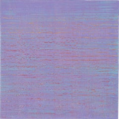 Silk Road 259, Pale Purple and Light Blue Square Encaustic Color Field Painting