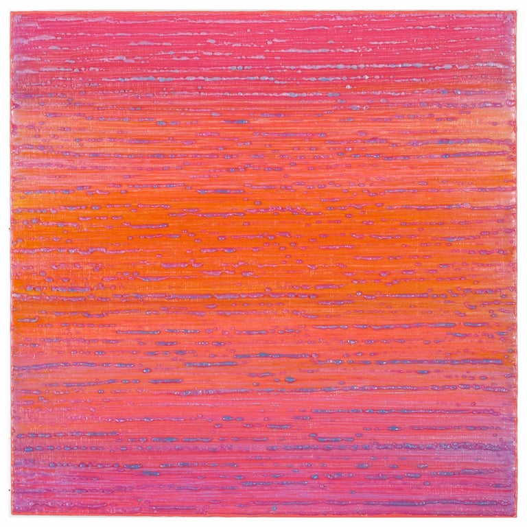 Joanne Mattera Abstract Painting - Silk Road 444, 2019, encaustic on panel, 12 x 12 x 2 inches