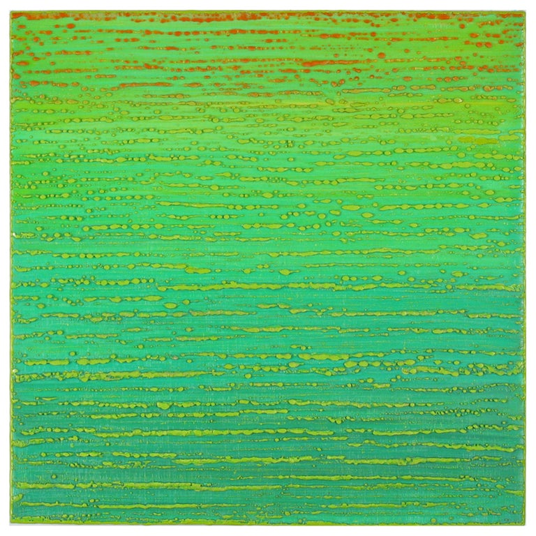 Joanne Mattera Abstract Painting - Silk Road 449, 2019, encaustic on panel, 12 x 12 x 2 inches