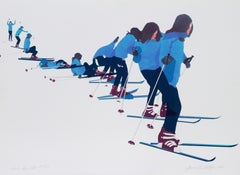 Don't Give Up, Skiing Lithograph by Joanne Seltzer
