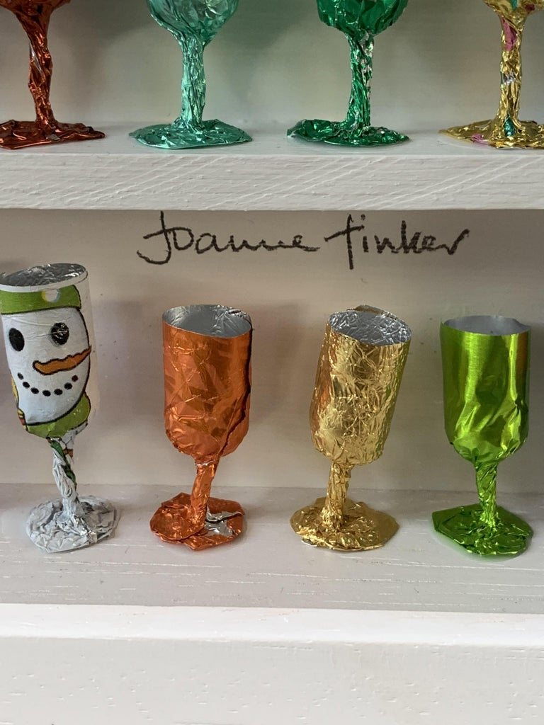 Goblets, Joanne Tinker, Wall Sculpture, Recycled Art, Contemporary Installation 2