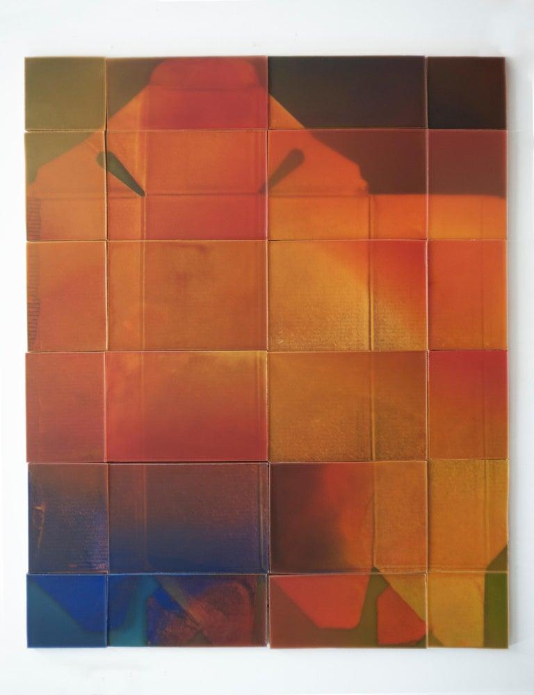 "Joanne Ungar Abstract Painting - ""Johnnie Walker Black"", waxwork multi-panel wall installation"