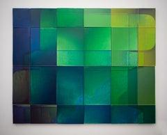 Modern Muse, waxwork multi-panel wall installation