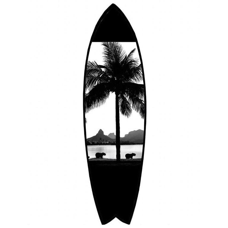 Joaquim Nabuco Black and White Photograph - Surfboard Rio 3 - Rio de Janeiro series