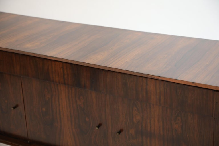 Joaquim Tenreiro Attributed Sideboard Brazilian Jacaranda Rosewood, Brazil 1950s For Sale 8