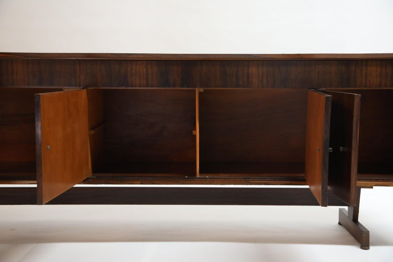Joaquim Tenreiro Attributed Sideboard Brazilian Jacaranda Rosewood, Brazil 1950s For Sale 11