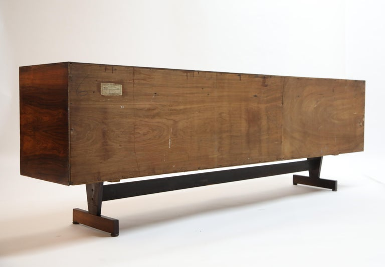 Joaquim Tenreiro Attributed Sideboard Brazilian Jacaranda Rosewood, Brazil 1950s For Sale 3