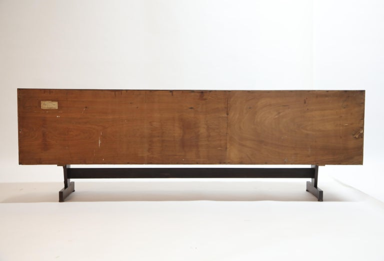 Joaquim Tenreiro Attributed Sideboard Brazilian Jacaranda Rosewood, Brazil 1950s For Sale 4