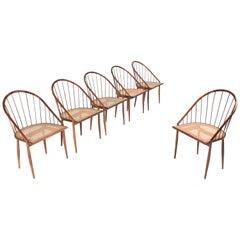 Joaquim Tenreiro Cadeiras Curva Dining Chairs