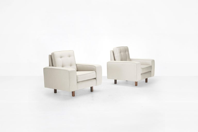 Joaquim Tenreiro Pair of Armchairs, Brasil, 1954 In Good Condition For Sale In Barcelona, Spain