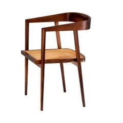 Joaquim Tenreiro Rosewood and Cane U Chair, circa 1960