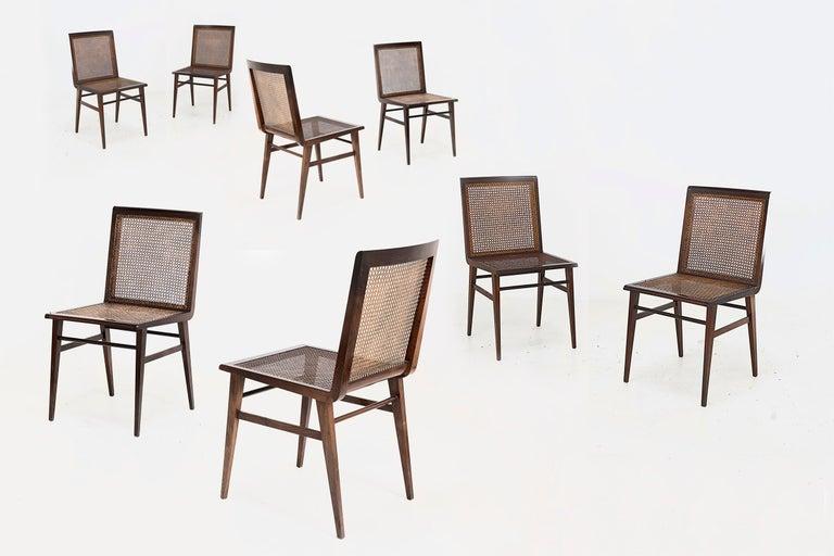 "Joaquim Tenreiro, Set of 8 Chairs Variant of the ""Cadeira baixa para quarto"" In Good Condition For Sale In Barcelona, Spain"