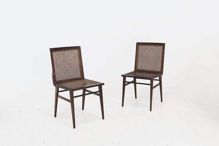 """Cane Joaquim Tenreiro, Set of 8 Chairs Variant of the """"Cadeira baixa para quarto"""" For Sale"""