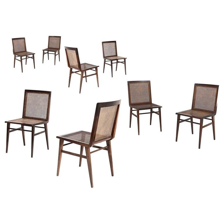 """Joaquim Tenreiro, Set of 8 Chairs Variant of the """"Cadeira baixa para quarto"""" For Sale"""