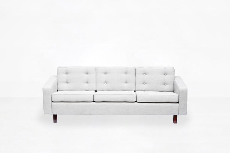 Joaquim Tenreiro Three-Seat Sofa, Brasil, 1954 In Good Condition For Sale In Barcelona, Spain