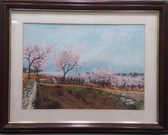 Landscape original watercolor painting