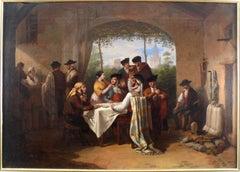 """""""The Card Game"""",  19th Century Oil on Canvas by Joaquín Domínguez Bécquer"""