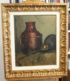 """STILL LIFE original oil canvas painting 1937"