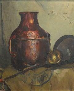 """""""STILL LIFE original oil canvas painting 1937"""