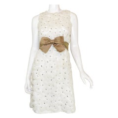 Jobére Vintage 1950's White Embellished Dress