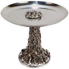 Jocelyn Burton Sterling Silver Sea Shell Encrusted Tazza or Compote
