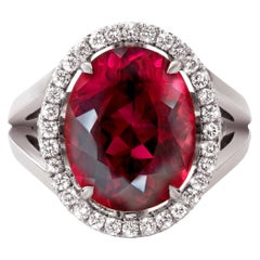 Jochen Leën 8.4 Carat Rubellite and Diamond Cocktail Ring