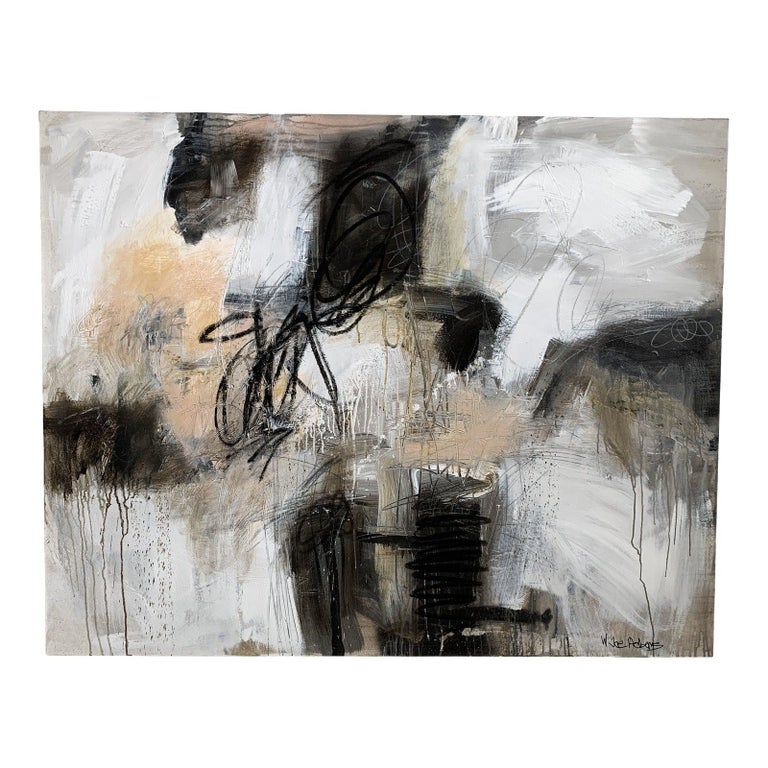 Joe Adam's Mixed Media Pastel Blush , Black , Charcoal Greys and whites  Signed on the front right Wire and very easy to hang  Joe Adams is a full time working artist in Macon, GA
