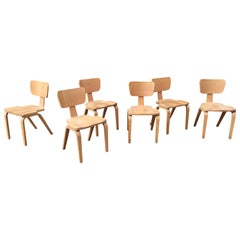 Joe Atkinson for Thonet Set of 6 Stacking Chairs