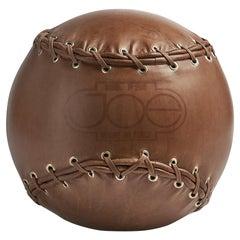 'Joe Ball'  Leather Footstool by Centro Studi Poltronova, Italy