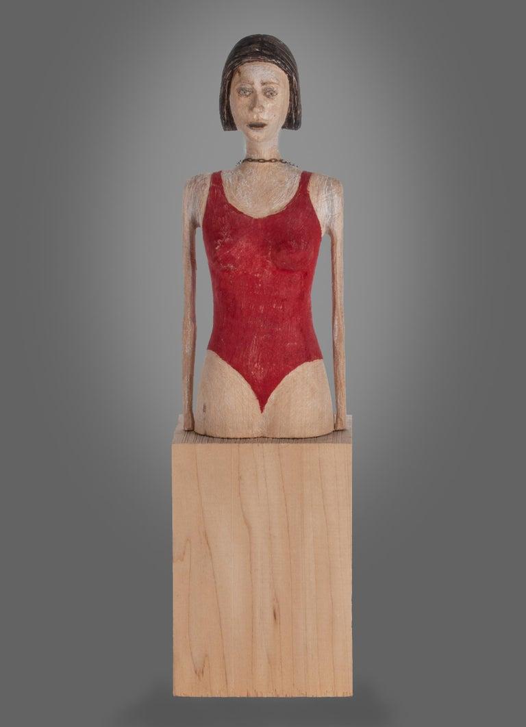 Joe Brubaker Figurative Sculpture - Caroline