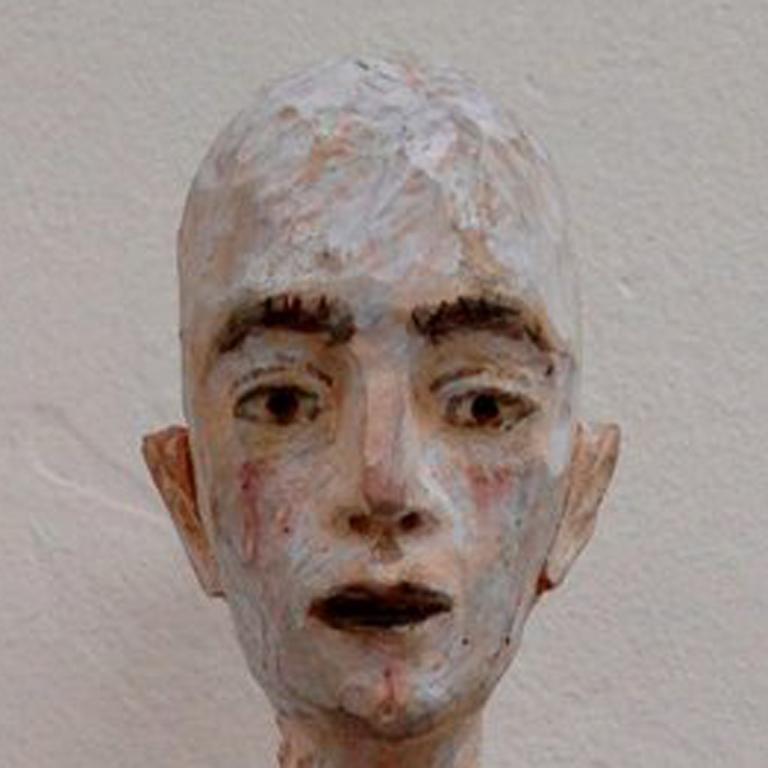 Daniel - Gray Figurative Sculpture by Joe Brubaker