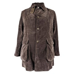 Joe Casely-Hayford Vintage Brown Cord Two Piece Coat Jacket