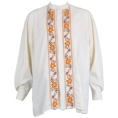 Joe Casely-Hayford Vintage Men's Extreme Oversized Embroidered Tapestry Shirt
